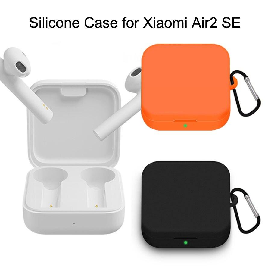 Caso de silicone para xiaomi airdots pro 2 se sem fio bluetooth fone de ouvido capa protetora bolsa para xiaomi air2 se protetor