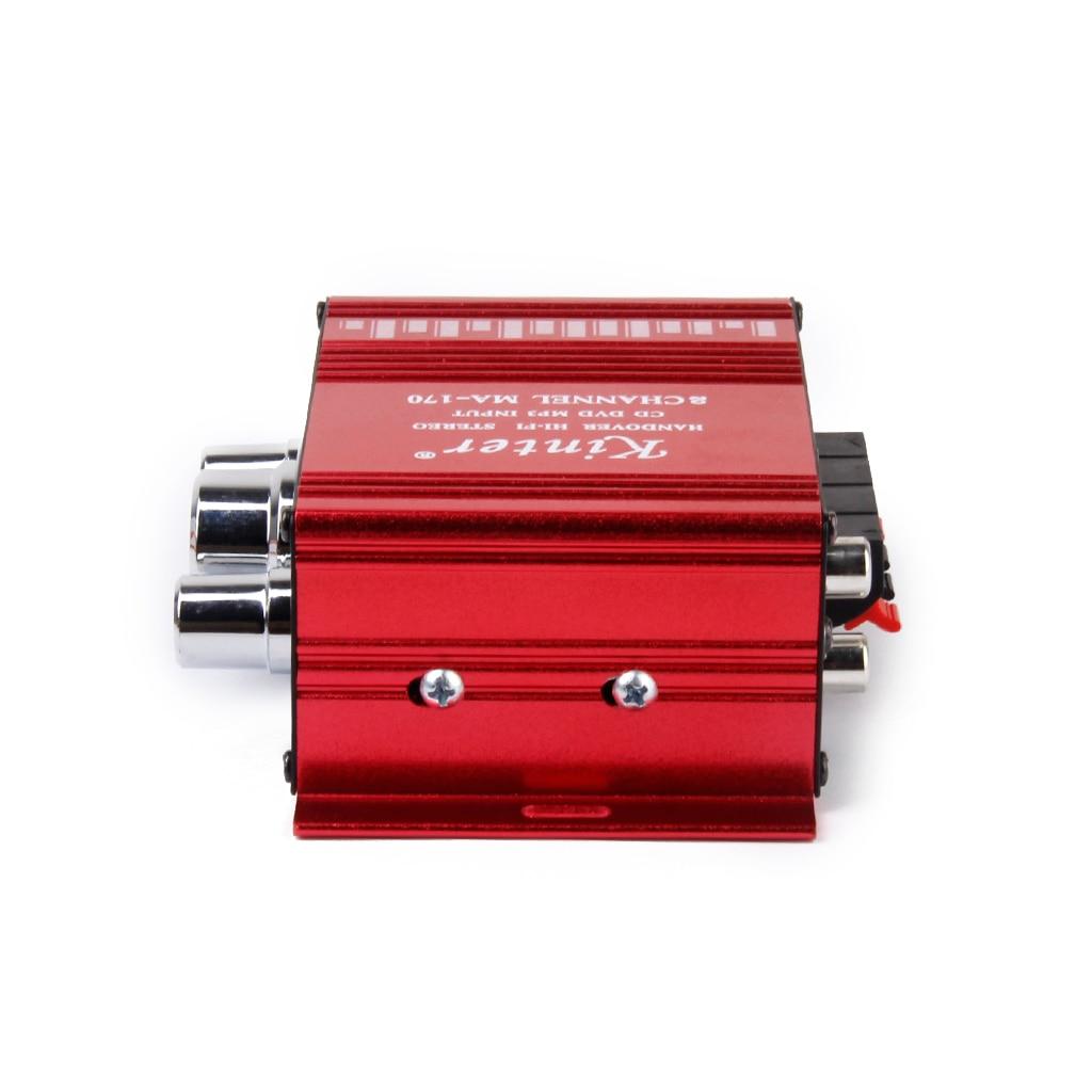 Mini amplificador rojo Hi-Fi MP3 Audio Ste para coche, Casa Marina, DC 12V-15V