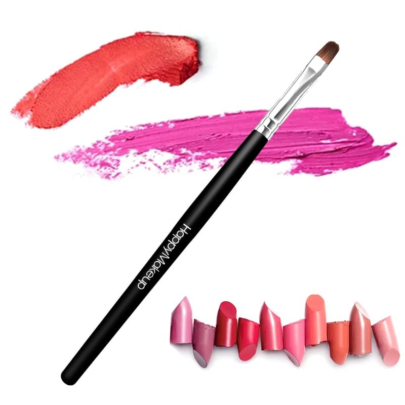 1 Pcs Balck Handle Lip Gloss Brush Makeup Soft Cosmetic Lipstick Brushes Makeup Tool For Lips Women