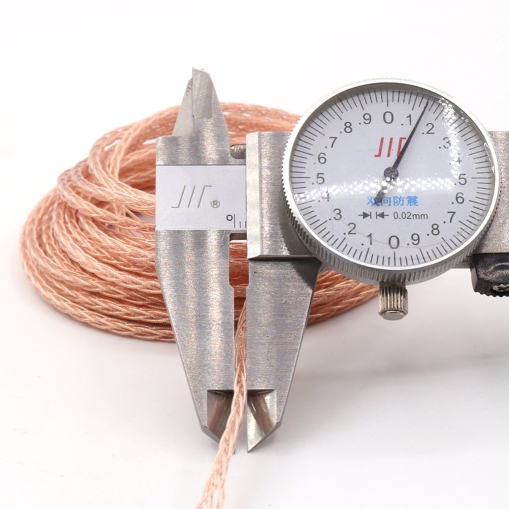 Thouliess HIFI Hi-Fi Handmade 6.35mm TRS Single Crystal Copper Headphone Upgrade Cable for ATH-R70X R70X Headphones enlarge