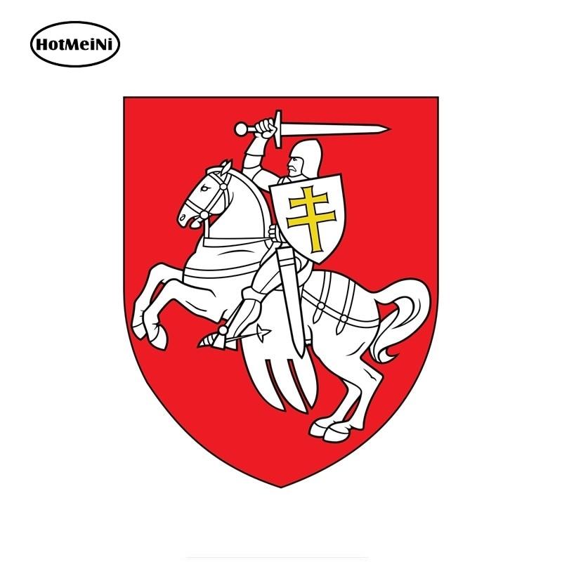HotMeiNi bandeira nacional emblema brasão de armas da Bielorrússia janela auto adesivo decalque PVC waterproofLongest lado 13cm