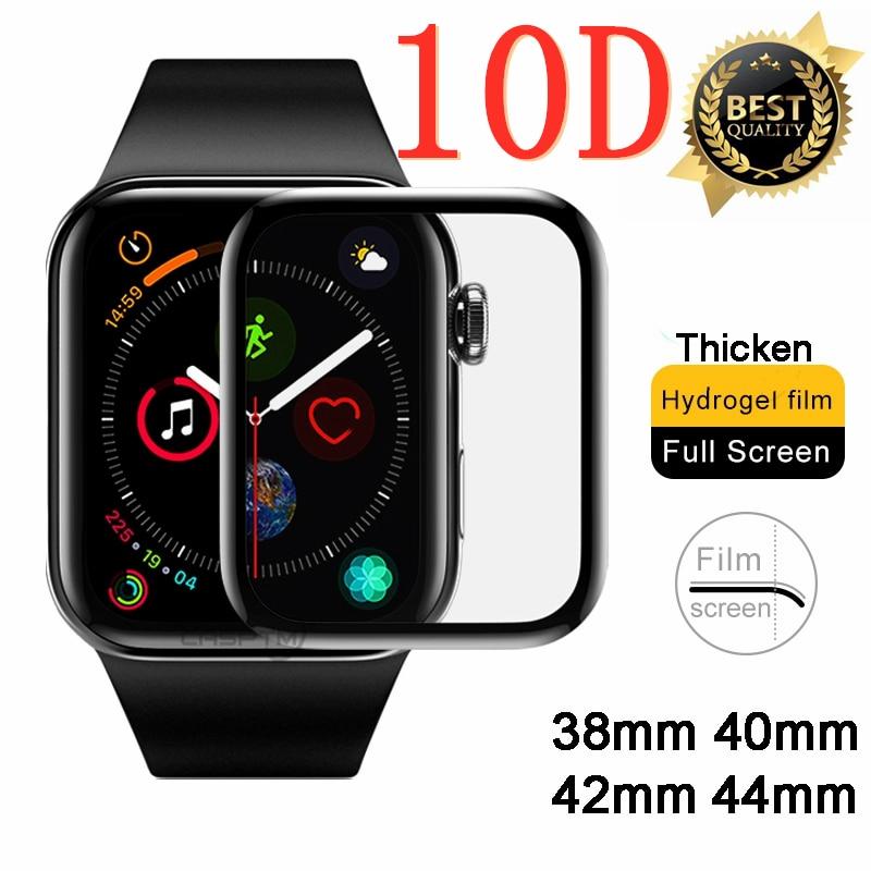 10d curvado hidrogel completo para apple watch 5 1 2 3 4 protetor de tela para iwatch 5 40mm 44mm 42mm 38mm película protetora