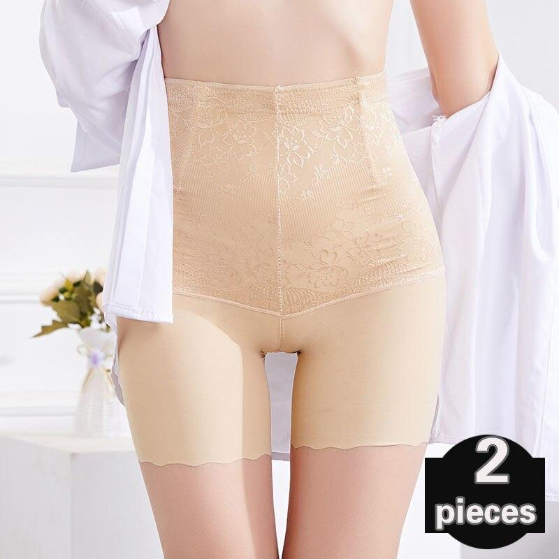 2 pçs cuecas femininas de cintura alta cuecas sem costura cuecas femininas shorts roupa interior sexy lingerie feminina tanga