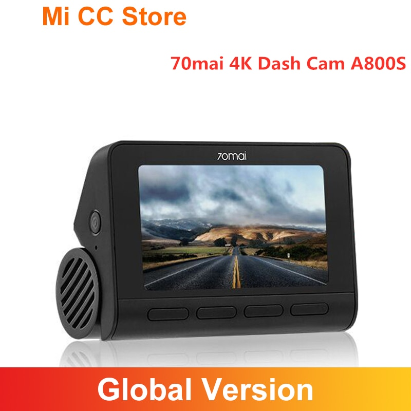 70mai A800 A800S 4K اندفاعة كام المدمج في نظام تحديد المواقع الأمامي والخلفي كام ثنائي الرؤية ADAS UHD صورة سوني IMX415 140FOV 24H وقوف السيارات Monitior