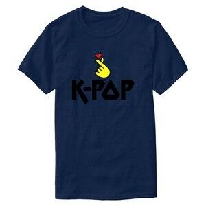 Футболка с принтом I Love Kpop Forever-I Am In Love With Kpop, Мужская футболка с круглым вырезом, мужские хипстерские хип-хоп топы
