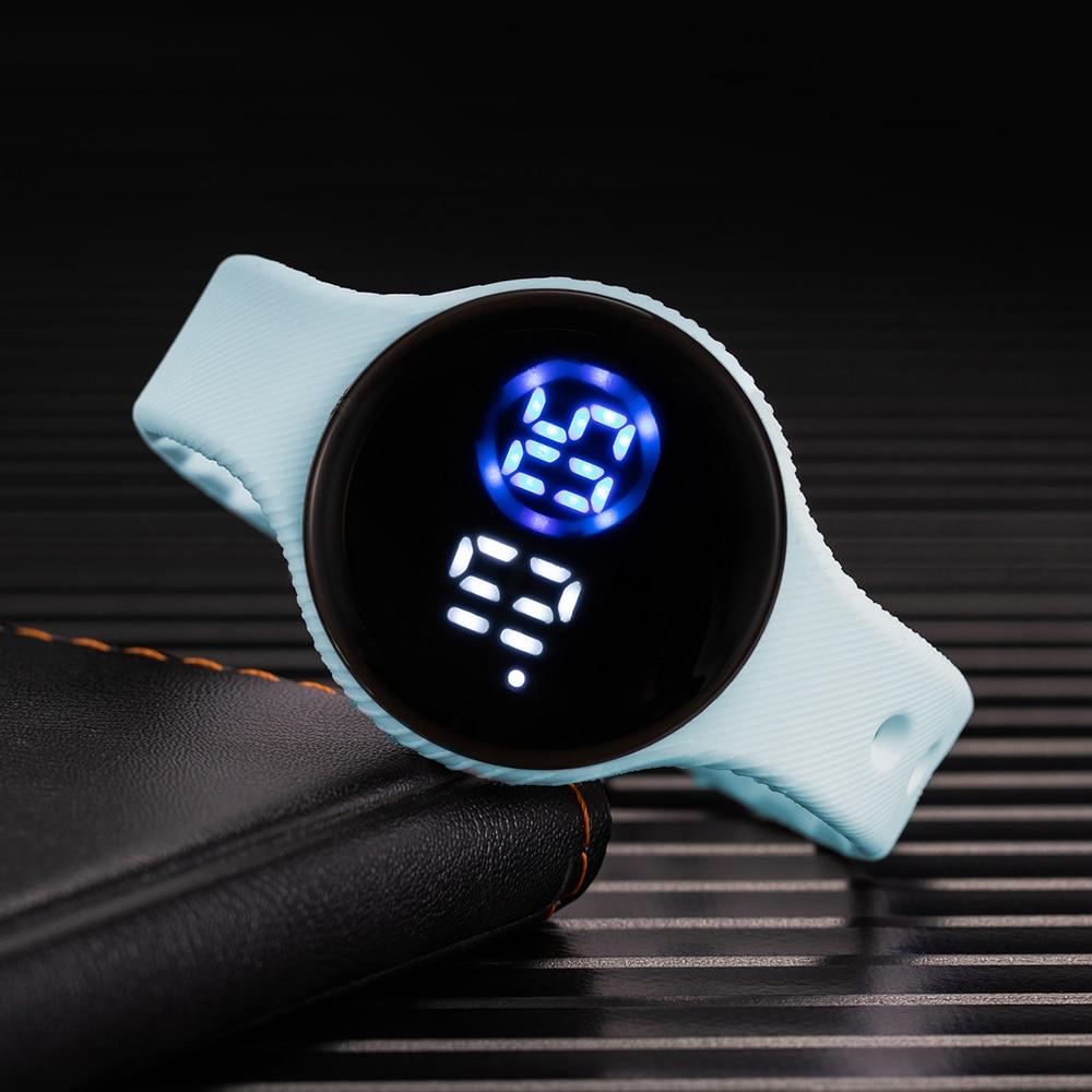 Women Digital Watch 2021 Fashion Led Touch Electronic Watch Silicone Strap Waterproof Sport Kids Wat