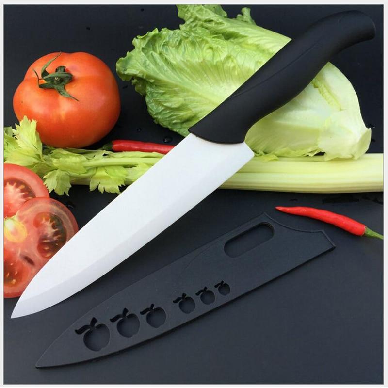 Ceramic Paring Knife 8 inches Fruit Paring Knife Chef Knife Zirconium Ceramic Knife Single handle 1 piece random color
