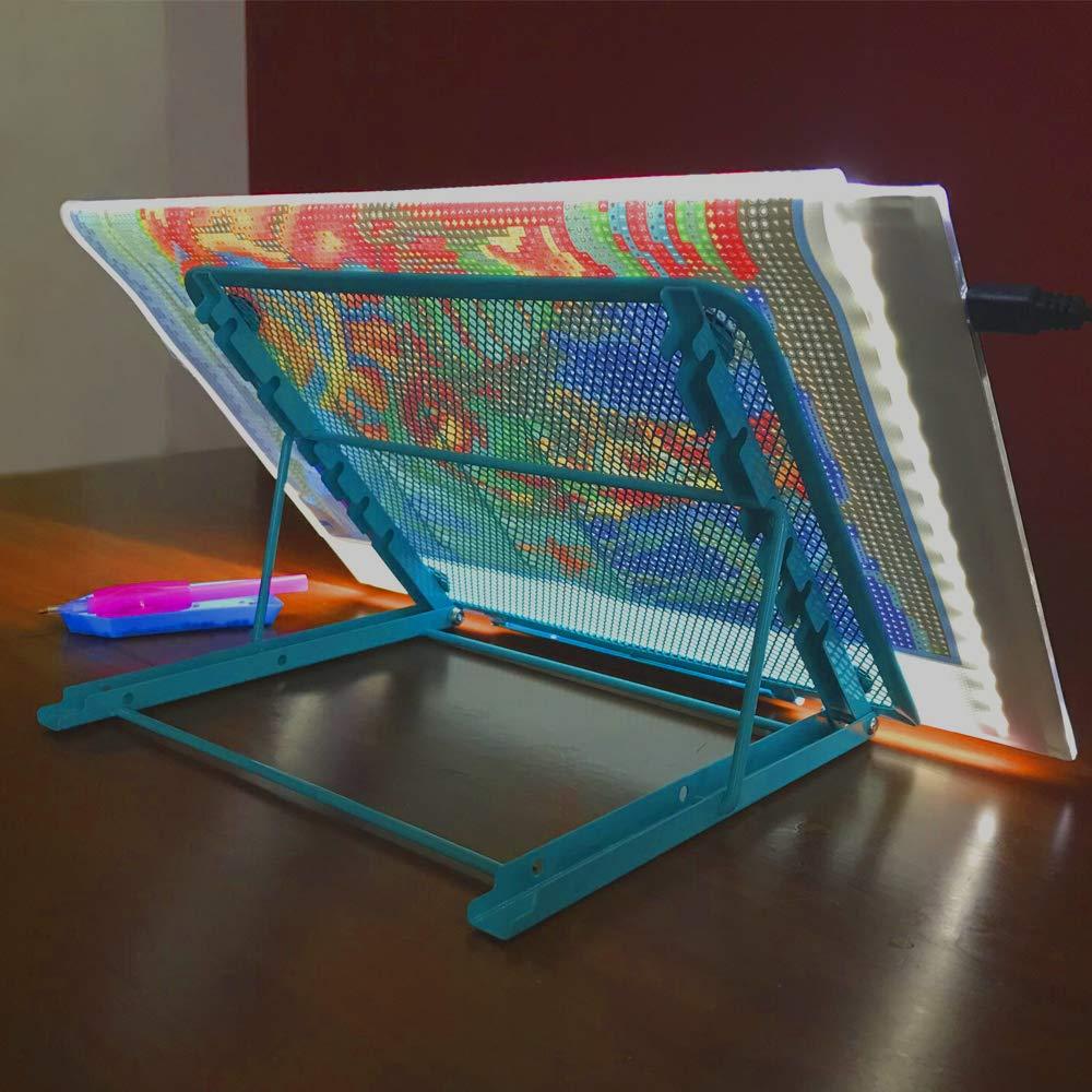 Foldable Stand Diamond Painting Light Pad Holder 5D DIY Diamond Painting Accessories Diamond Embroidery Cross Stitch Metal Tools