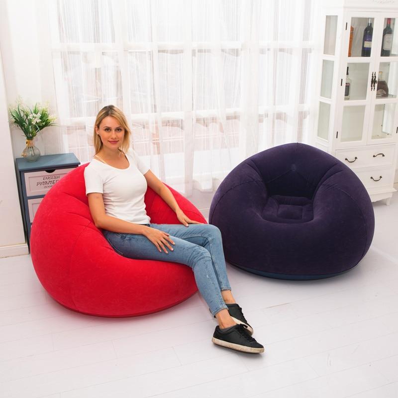 Sofá Tatami para interiores y exteriores, cama Plegable inflable para hombre, sofá...
