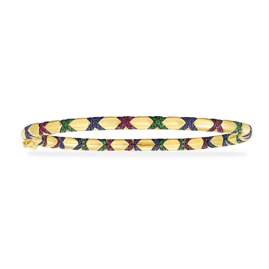 S925 plata esterlina micro-set de diamante de Cristal Arco Iris patrón de Cruz tribal pulsera femenina ins retro serpiente brazalete pulsera