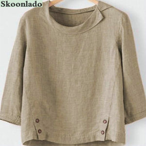 Новейшая модель; 5XL размера плюс для женщин хлопок, Болье Топы Леди льняная блузка зарубежных оригинальный дизайн леди блузка Лидер продаж з...