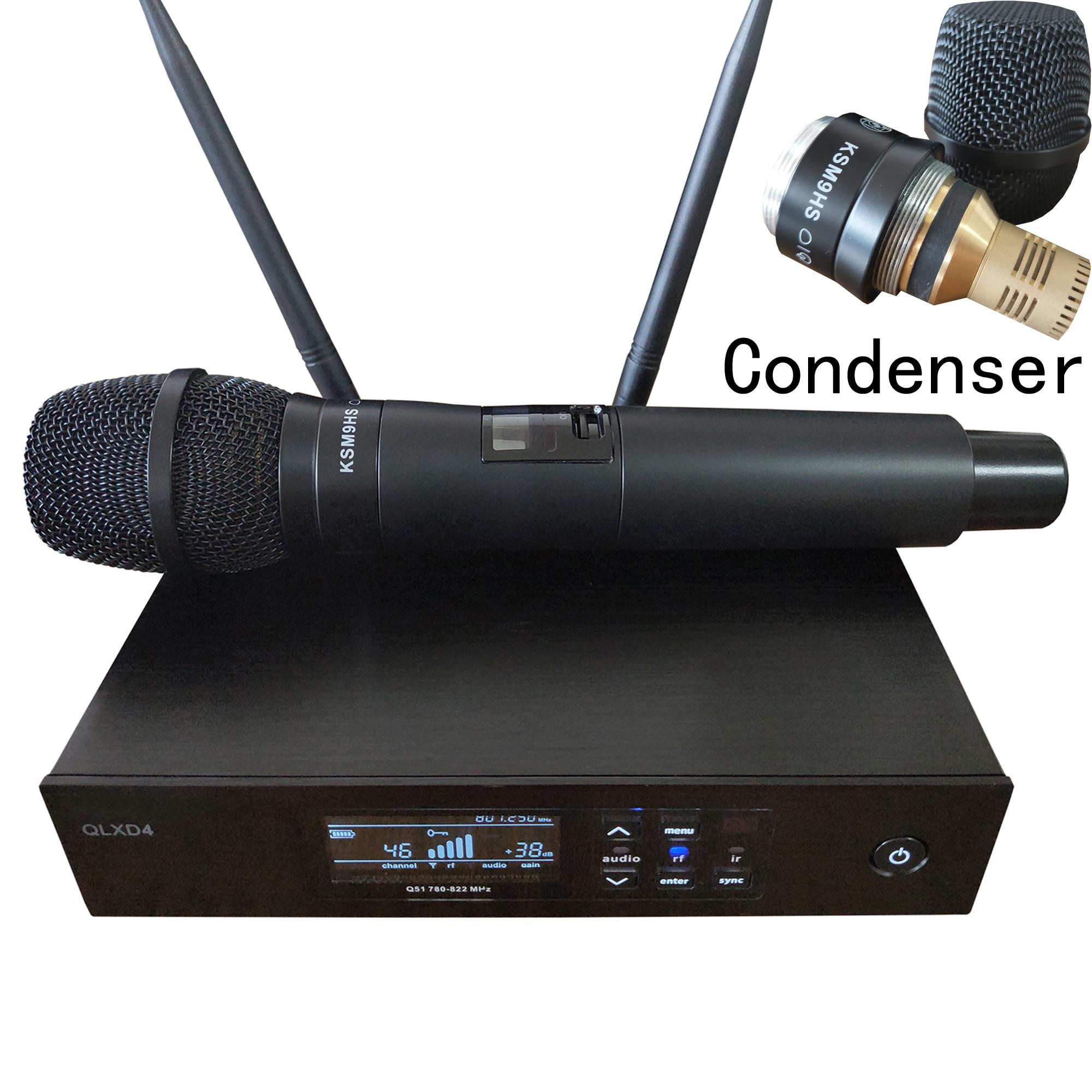 Leicozic QLXD24 SKM9 sistema con micrófono inalámbrico de mano buena condensador Microfone sem fio profesional mesa de som 628-668Mhz