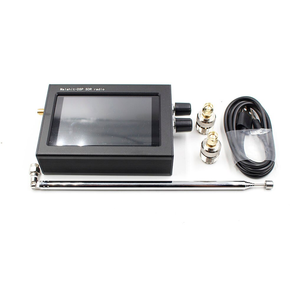 جهاز استقبال الملكيت اللاسلكي 1.10C 50k-2GHZ مع شاشة LCD باللمس 3.5 بوصة محلل الطيف DSP أداة الحد من الضوضاء