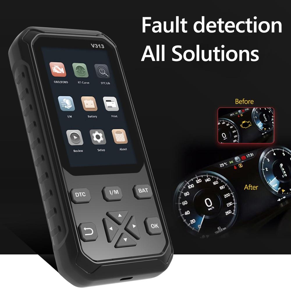 V313 2 in 1 OBD2 Automotive Scanner Car Engine Fault Code Reader Universal OBD II Scanner Car Diagnostic Tool automotive eobd obd2 scanner diagnostic tool car check engine fault code reader car diagnostic tool fault finder