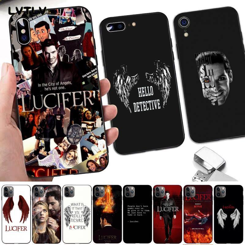 LVTLV américain TV dégénéré ange Lucifer personnalisé Photo souple étui de téléphone pour iPhone 8 7 6 6S Plus X 5 5S SE 2020 XR 11 pro XS MAX