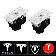 2Pcs Welcome Lamp Car Led Courtesy Car Door Signal Lamp Puddle Lights Projector Light Ghost Shadow Lights for Tesla Model S X