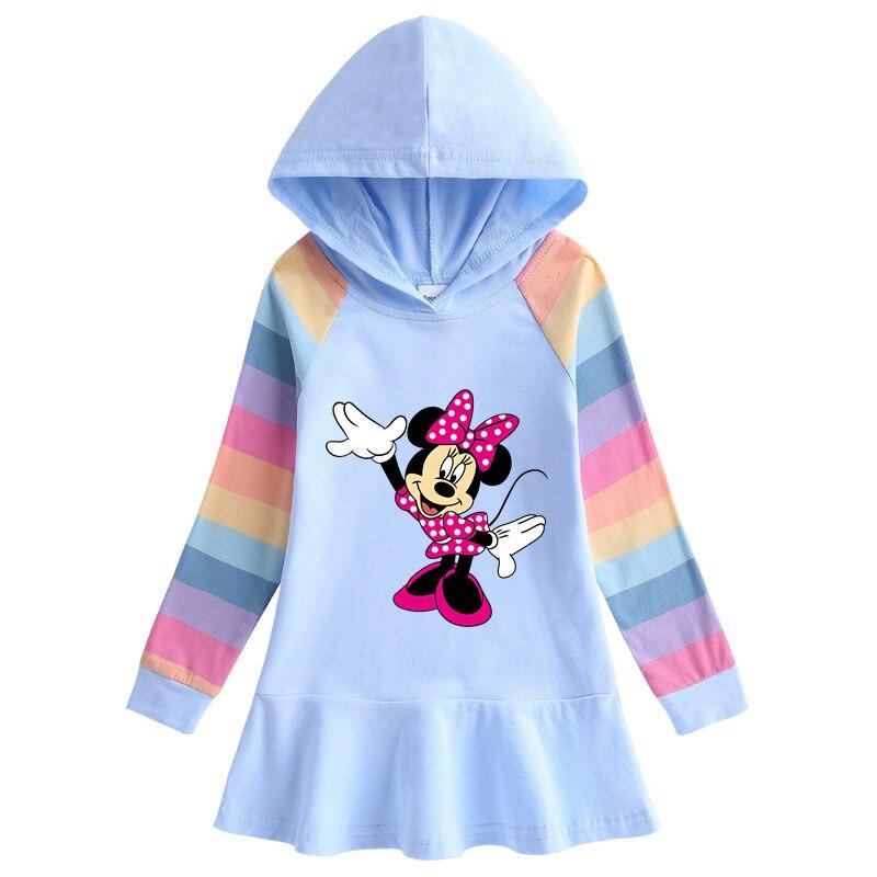 Sudaderas con capucha de Mickey Minne de Disney para otoño, vestido de Navidad para niños, abrigo de manga larga, disfraz de bebé, sudaderas de fiesta, ropa