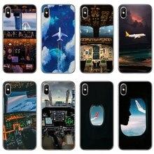 طائرة قمرة القيادة يطير الهاتف غطاء حالة ل OnePlus 3T 5T 6T LG G5 G6 G7 Q6 Q7 Q8 Q9 V20 V30 X الطاقة 2 3 K4 K8 K10