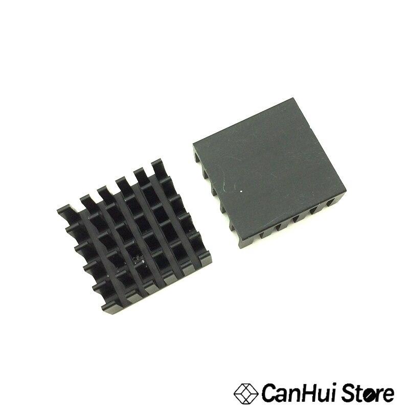 10 piezas disipador de calor de aluminio para Chip IC LED de plata 22*22*10mm negro 22X22X10mm LED radiador