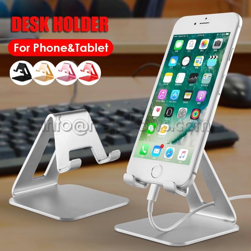 Soporte metálico de aluminio para teléfono móvil, soporte de escritorio para Apple,Xiaomi,Huawei,Samsung, soporte para Tablet