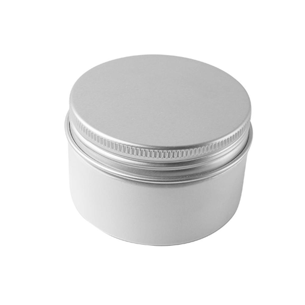 1/ 5/10 Uds de aluminio de 50ml botes de lata portátil ligero botellas de Pote bálsamo de lata redonda crema envases vacíos tarro Cosme C2K8