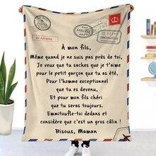 Flanelowe rzut koc nadrukowane litery kołdry poczta lotnicza druk 3d zachowaj ciepła kanapa dziecko koc tekstylia domowe zjawiskowy prezent rodzinny Koce    -