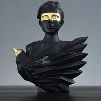 portrait statue ornament resin sculpture artwork abstract figurine home decoration accessories for office decoracion salon casa