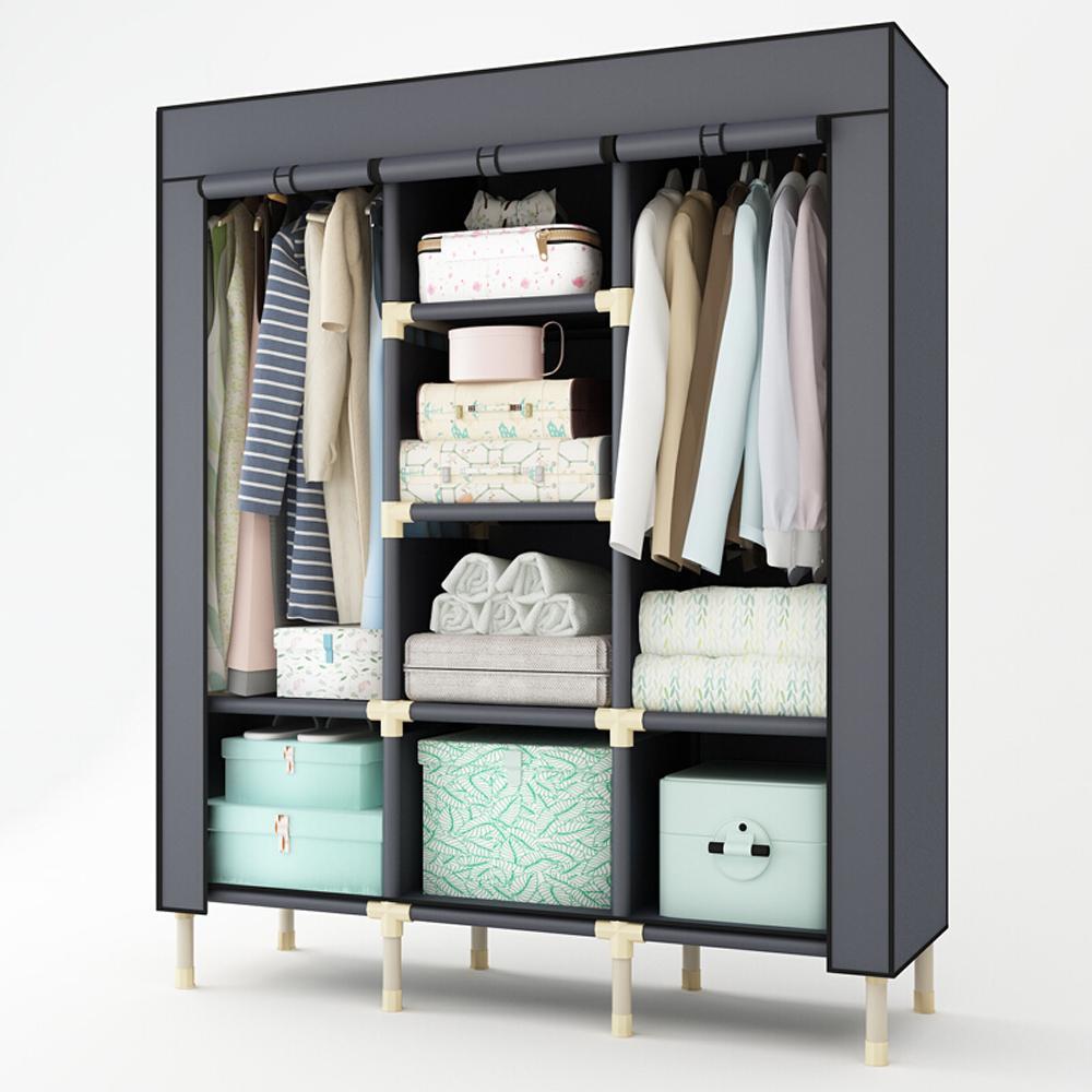 Супер большой сверхмощный шкаф, утолщенный портативный шкаф для домашней одежды, вешалка для одежды, креативный прозрачный дизайн окна