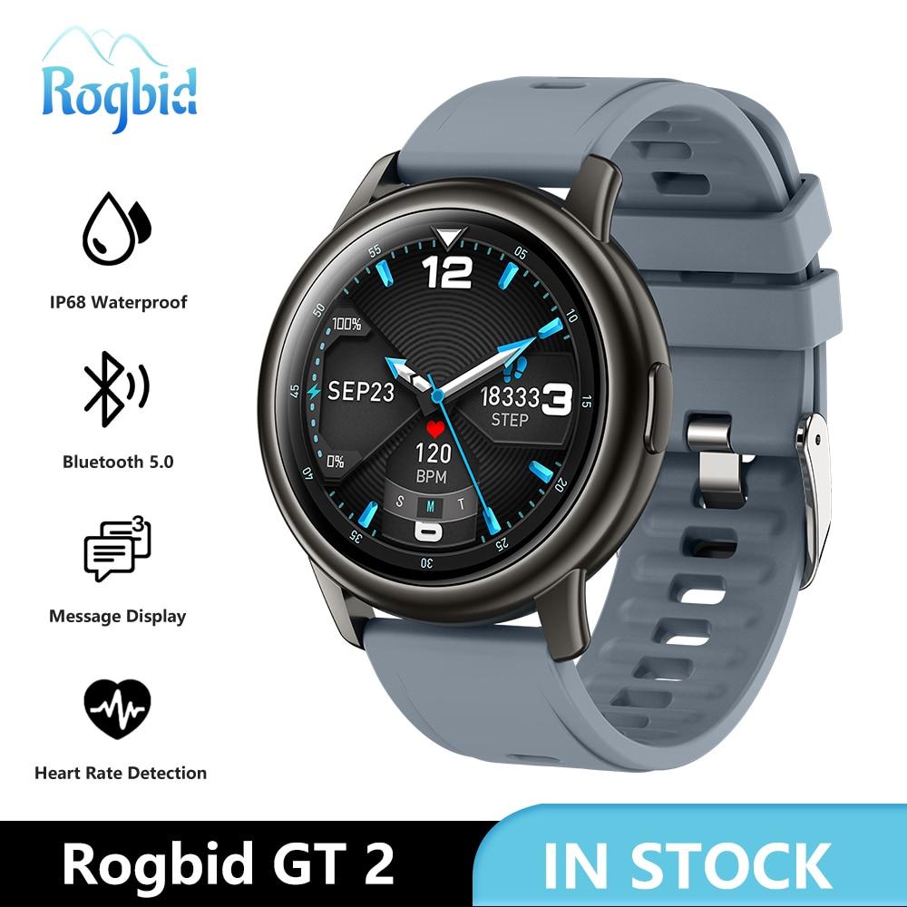 Rogbid-ساعة رياضية متصلة GT 2 للرجال ، ساعة ذكية ، نشاط بدني ، مقاومة للماء ، لنظامي iOS و Android ، 2021