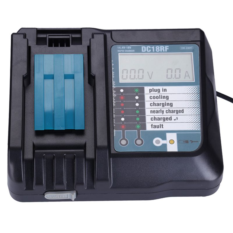 14.4V 18V بطارية ليثيوم أيون شاحن الجهد الحالي Lcd شاشة ديجيتال ل ماكيتا Dc18Rf Bl1830 Bl1815 Bl1430 Dc14Sa Dc18Sc Dc18Rc