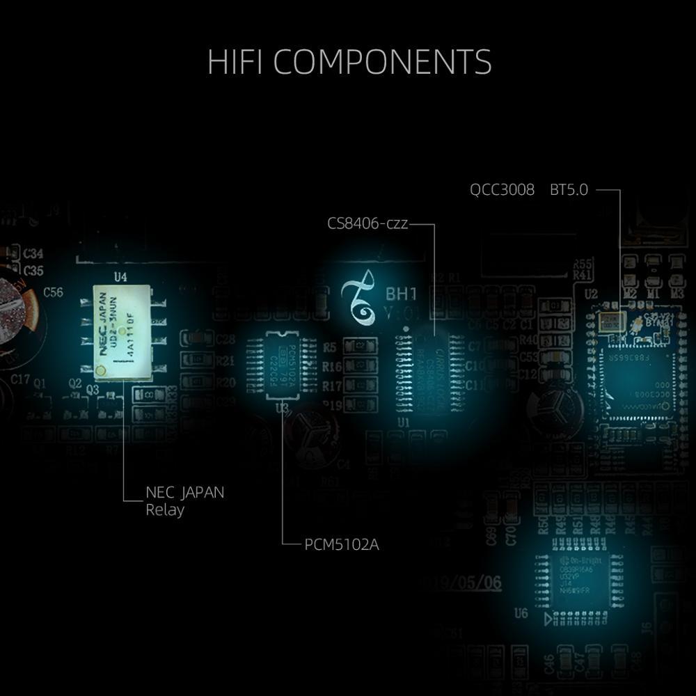 KGUSS BH1 DAC QCC3008 Bluetooth 5.0 CS8406 Audio Decoder PCM5102A APTX Headphone Amplifier AMP enlarge