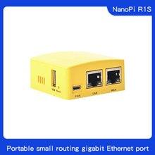 Freundliche NanoPi R1S tragbare kleine route, alle Chi H3/H5 dual Gigabit Ethernet port 512M speicher OpenWRT