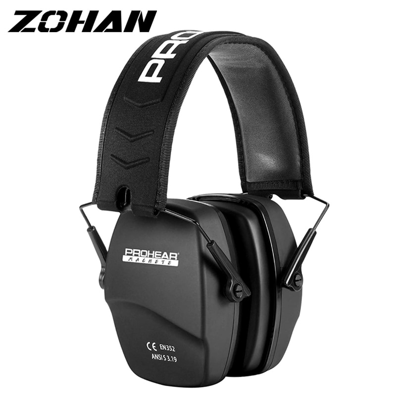 ZOHAN Shooting Ear Protection Safety Earmuffs NRR 26dB Noise Reduction Slim Passive Hearing Protector Foldable Ear Defender zohan noise cancelling hunting hearing protection safety earmuffs ear defenders adjustable shooting ear protection protector