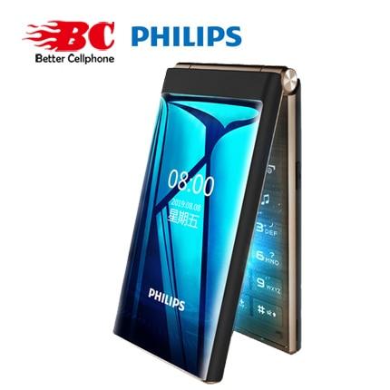 Original Philips E219 2.8 inch 1800mAh battery single camera FM Radio support memory card Dual SIM 2G Old man keyboard  phone