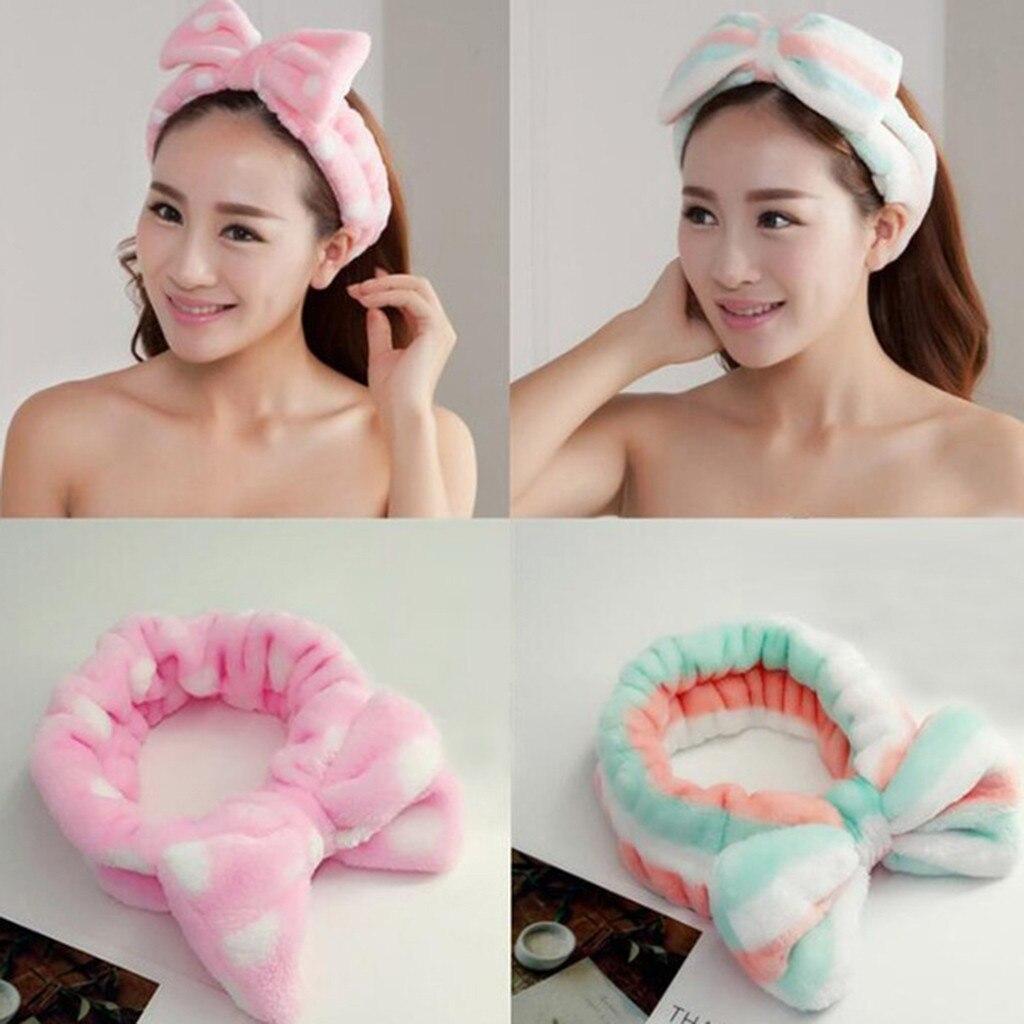 Bonito arco hairband para as mulheres moda elástico cabeça banda cabeça turbante bandana hairband doce doce doce cor banho spa rosto bandana