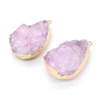 natural stone pendant water drop crystal exquisite charm for fashion jewelry making diy necklace earrings accessories