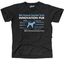Tinno T-Shirt innovation Pur Black Russian Terrier Dog Dogs siviwonder