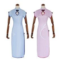 Anime Re Zero Kara Hajimeru Isekai Seikatsu Remu Rame Cosplay Costume Cheongsam robe tenue Anime Cosplay Costumes