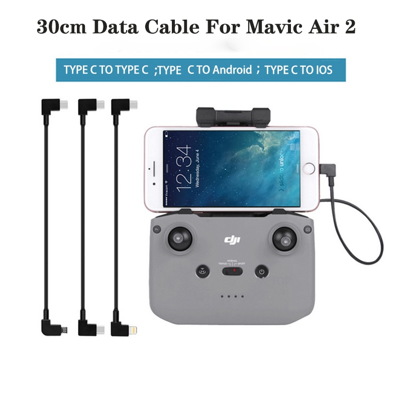 Data Cable For Mavic MINI 2 Control Micro USB Type-c IOS Android OTG For DJI Mavic Air 2 Tablet Smartphone Drone Accessories