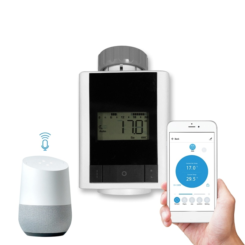 بلوتوث متحكم في درجة الحرارة المبرد ترموستات TRV ل تويا التحكم الذكي المنزل الذكي التحكم الصوتي عبر اليكسا