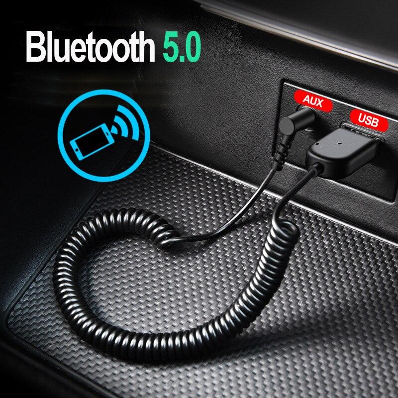 Osevporf bluetooth transmissor receptor sem fio bluetooth 5.0 carro aux 3.5mm adaptador de áudio cabo para alto-falante fone de ouvido