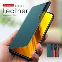 Магнитный чехол Smart View для Mate 40 20 P40 P30 Pro P20 Lite Honor 9S 9A P Smart Z 2021 Y9 Prime 2019, кожаный чехол-подставка для телефона