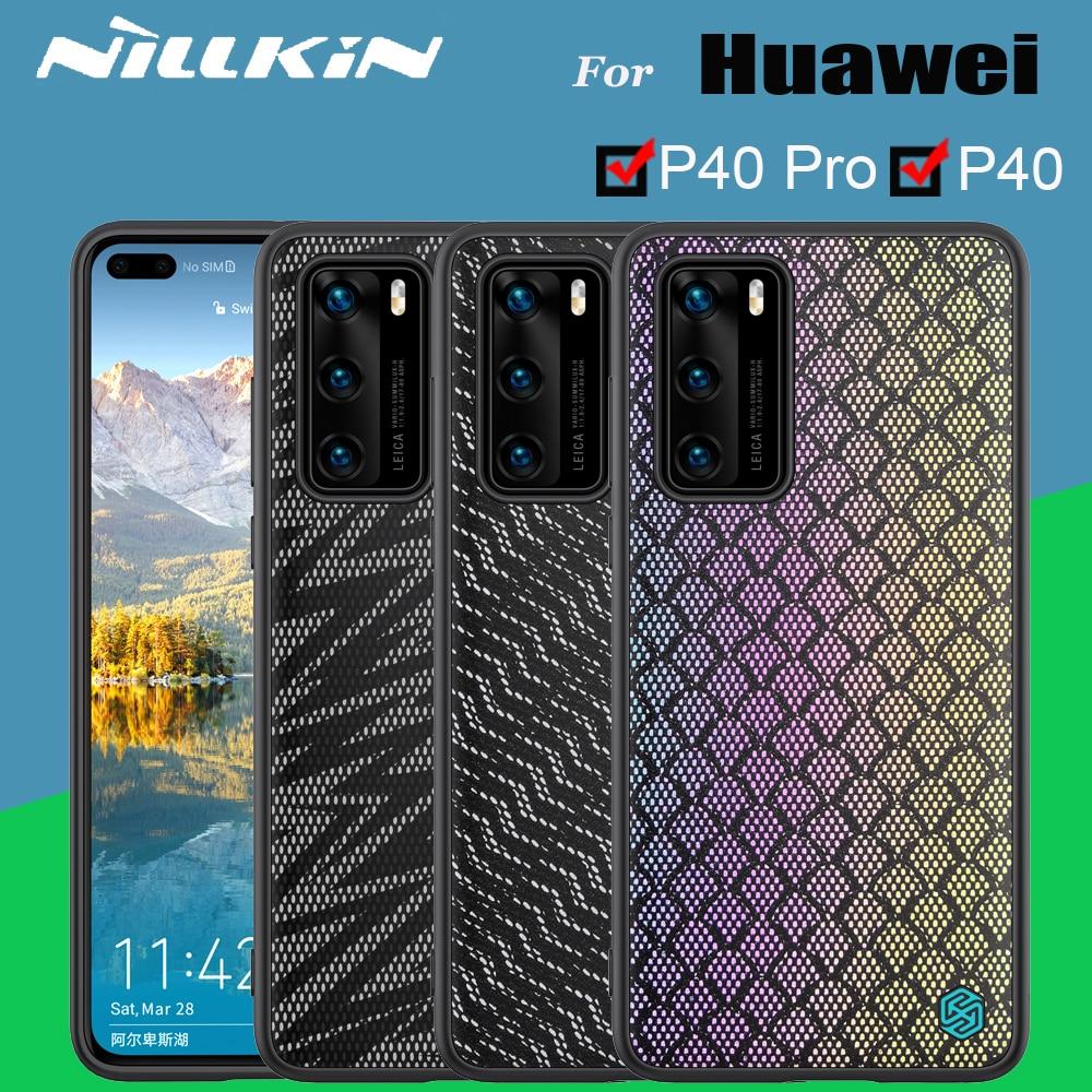 Funda Fall Für Huawei P40 p40 Pro Abdeckung NILLKIN Twinkle Fall Polyester Reflektierende Telefon Zurück Abdeckung Tasche Für Huawei P40 pro Fällen