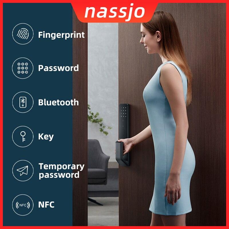 Nassjo Smart Fingerprint Door Lock Intelligent Electric Digital Lock For Xiaomi Mijia APP WIFI Bluetooth Password Key NFC Card