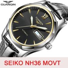 GUANQIN saphir automatique mécanique montre hommes japon NH36 mouvement haut marque de luxe hommes montres étanche Relogio Masculino