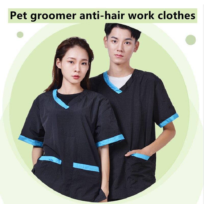 pet groomer anti cabelo macacao animais de estimacao corte nao pegajoso roupas trabalho