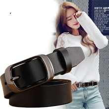 Ladies Brand Leather Pure Leather Belt Buckle Casual Simple Wild Fashion Tide Jeans Corset Female Be