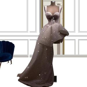 Glitter White High Low Evening Dress вечернее платье 2021 Sweetheart Evening Gowns for Women abiti da cerimonia FOE31216