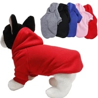 solid color pet dog clothes for dogs hoodie polyester dog coat jacket puppy pet clothing for small dogs costume pets outfits