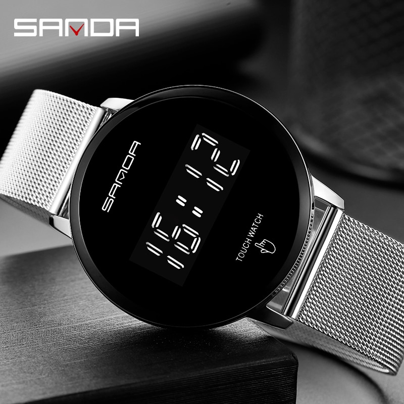 2020sanda Fashion Luminous Waterproof Watch Sports Student Multifunction LED Electronic Watch Digital Alarm Watches Rubber Sanda enlarge